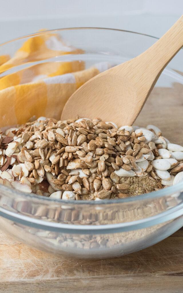 Easy Granola Mixing