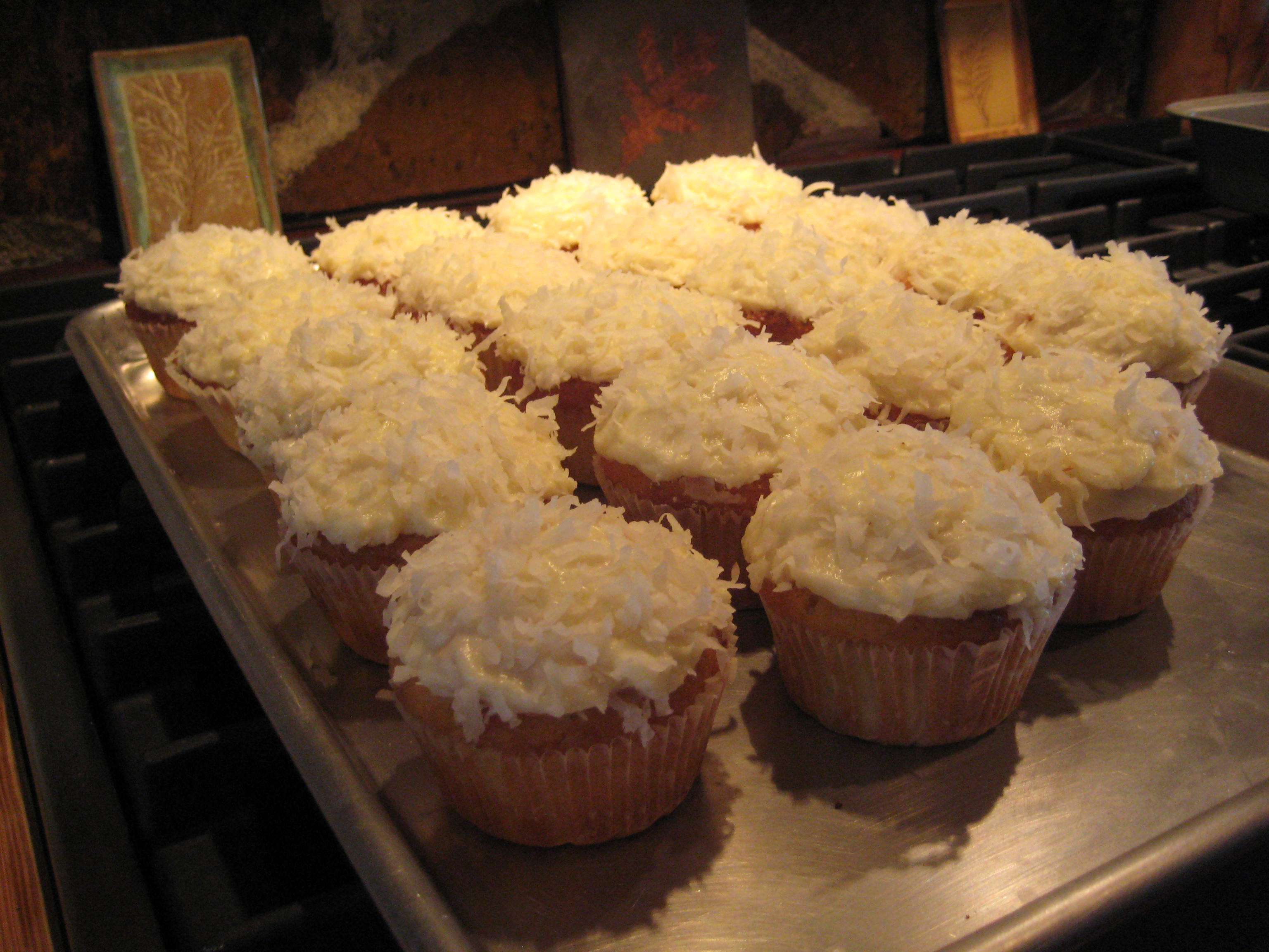 Almond Coconut Cupcakes with Cream Cheese Icing