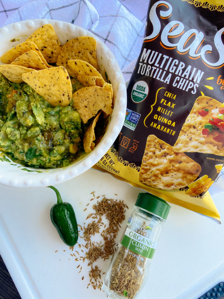 The Best Grilled Guacamole