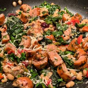 Easy Chicken Sausage and Veggie Saute Dinner