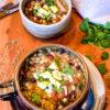 Chicken and Three Bean Chili Verde