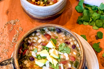 Chicken and Three Bean Chili Verde