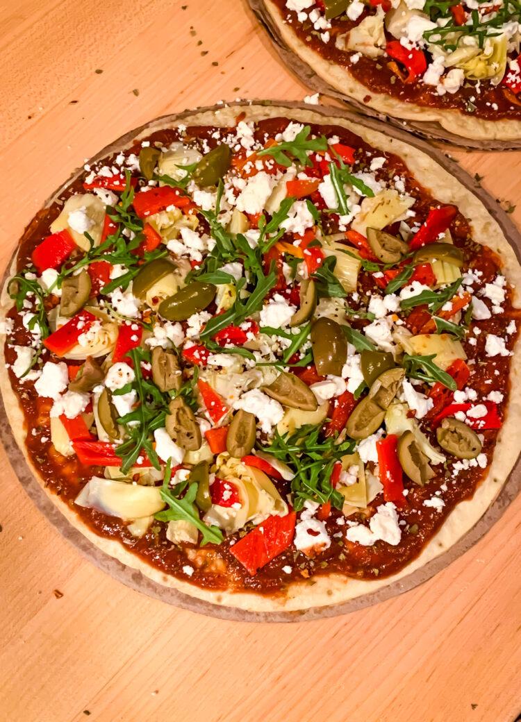 Easy Mediterranean Cauliflower Pizza