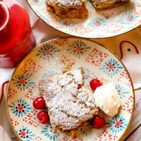 Cherry Pistachio Snack Cake