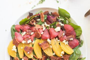 Roasted Strawberry and Beet Salad