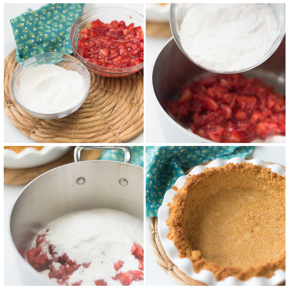 Strawberry Pie Step By Step