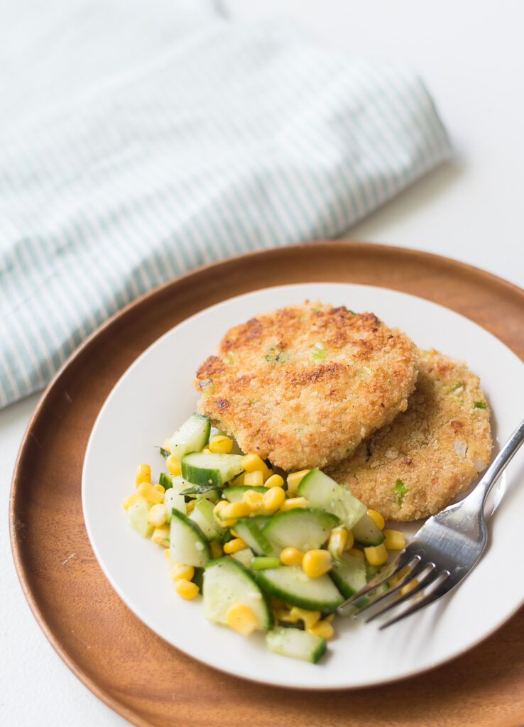 Zesty Salmon Cakes Plated