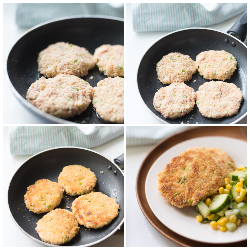 Zesty Salmon Cakes Step By Step