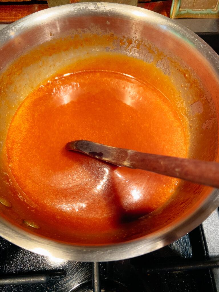 Caramel Sauce Cooking