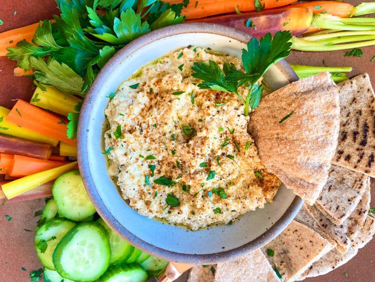 Smoked Cauliflower Hummus
