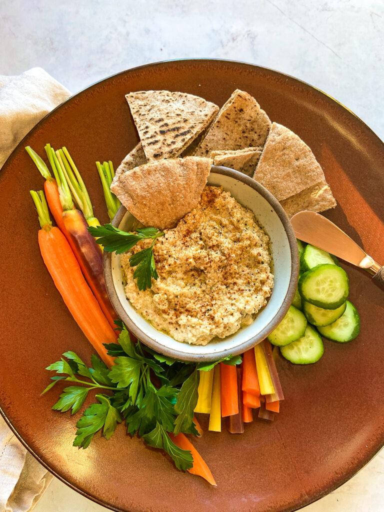 Smoked Cauliflower Hummus Dip Recipe