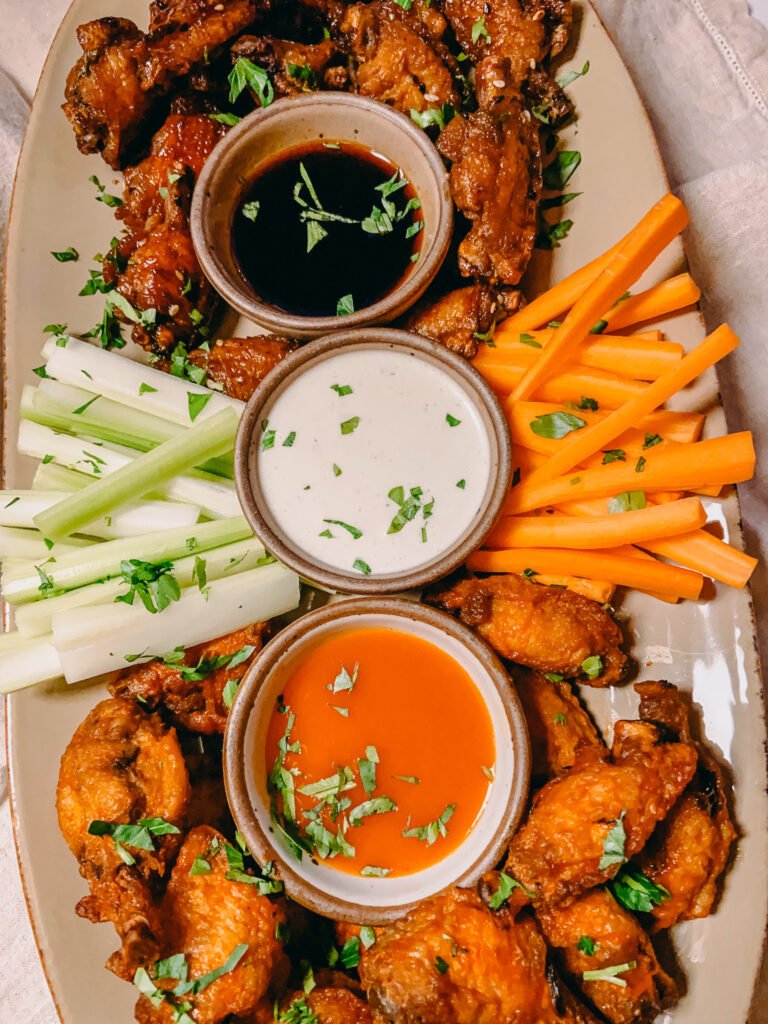 Chicken Wings with sauces