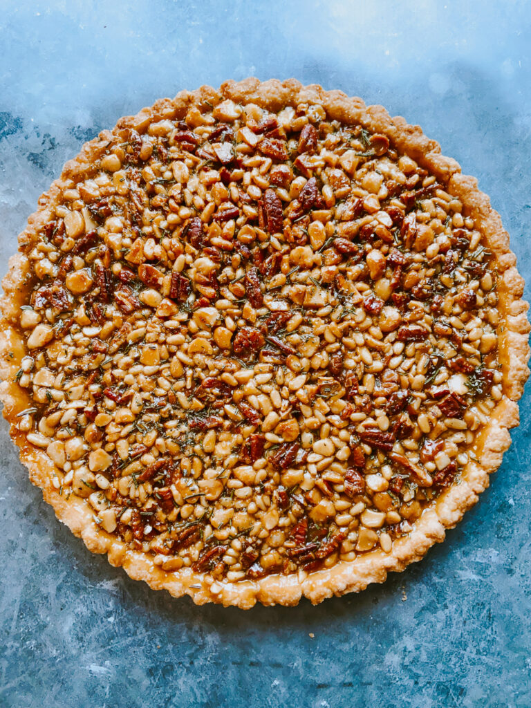 Salty Multi-Nut Tart Fresh Out of the Oven