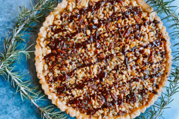 Salty Multi-Nut Tart with Rosemary
