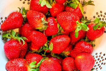 Fresh Strawberries in Bowl