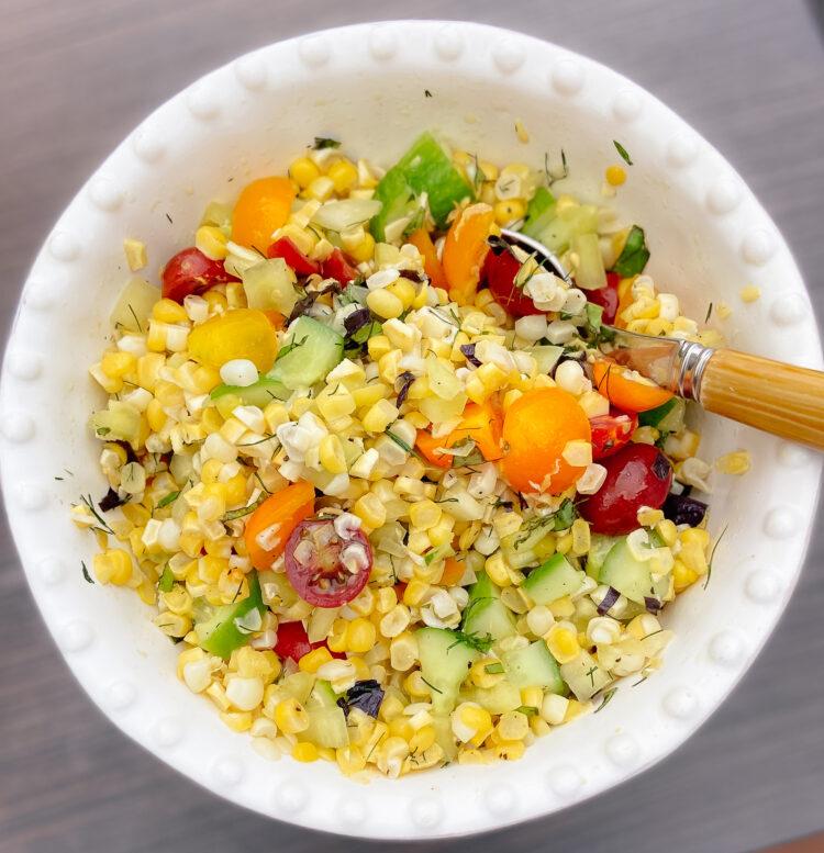 Easy Summertime Corn Salad SQ
